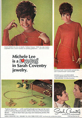 Love Bug Michele Lee FASHION FORTUNE Sarah Coventry Jewelry DEAN JONES 1969 Ad