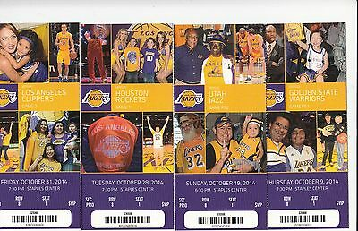 2014-15 LOS ANGELES LAKERS SEASON TICKET STUB PICK YOUR GAME KOBE BRYANT DROPBOX
