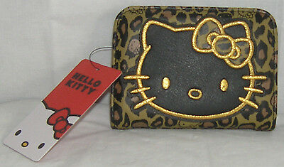 Hello Kitty Wallet Bifold LEOPARD LOUNGEFLY FREE SHIPPING NICE GIFT NWT