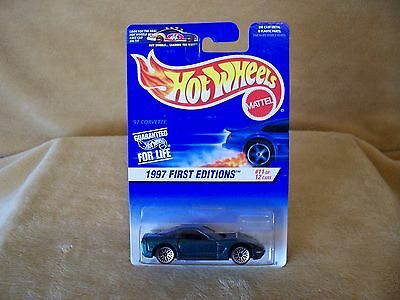 1/64 DIE CAST  HOT WHEELS 1997 FIRST EDITION 11/12  97 CHEVY CORVETTE  TEAL