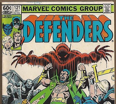 The DEFENDERS #121 with Beast and Hellcat from July 1983 in Fine- NS