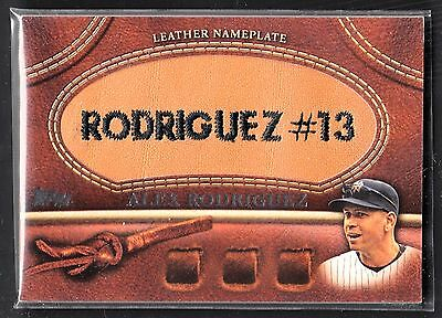 Alex Rodriguez 2011 Topps Series 1 Leather Nameplate Card