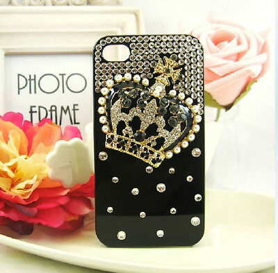 """HOT NEW 3D Crystal Crown PC Case Cover Skins for Apple iPhone6 4.7"""" C101"""