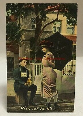 circa early 1900s Pity The Blind Antique Postcard