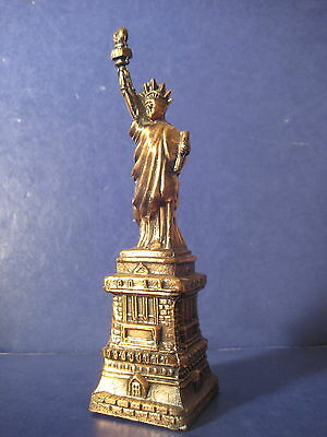 Statue of Liberty Vintage  Souvenir Metal  Building Great Torch 7.75""