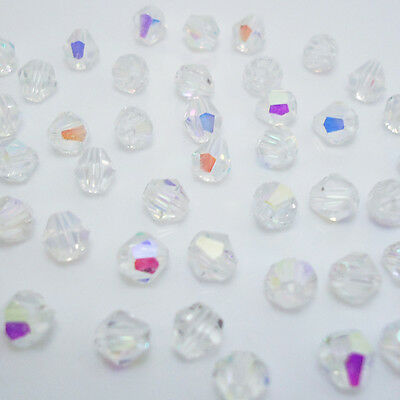 Free shipping jewelry 100pcs Swarovski  Crystal 4mm #5301 bicone beads  B:25