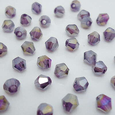 Free shipping jewelry 100pcs Swarovski  Crystal 4mm #5301 bicone beads  B:19