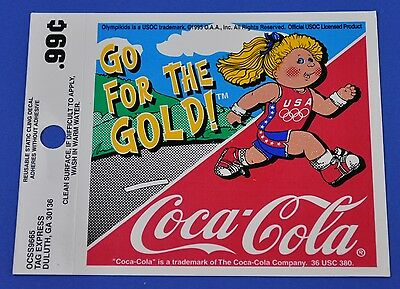 Coca Cola Coke Aufkleber USA Sticker Decal - Olympia 96 - Go For The Gold Girl