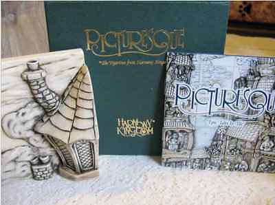 """***Picturesque Tile Harmony Kingdom Wimberley Tales  """"The Chimney""""  in Box ***"""