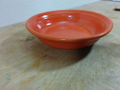 Vintage Meyers California Rainbow Shallow Dish Orange Glaze