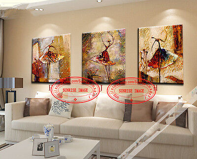 P9C49 Modern Ballet dancers Oil Painting Abstract wall decor Handmade /NO Frame
