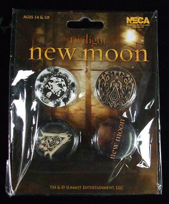 The Twilight Saga New Moon Creast Pin Set of 4 NIP