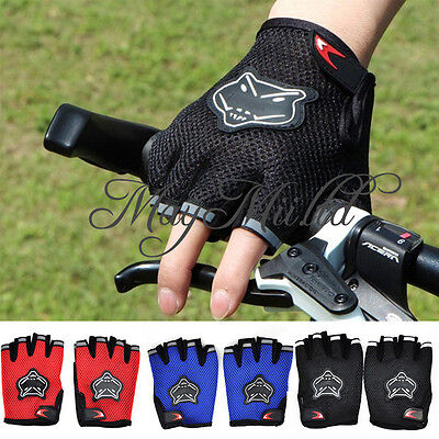 Outdoor Cycling Bicycle Mountain Riding Bike Antiskid Gel Half Finger Gloves S