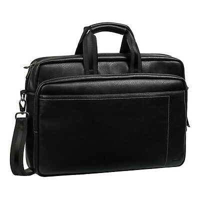 6901201089402 RIVACASE 8940 Faux Leather Bag for 15.6 Inch Laptops, Black