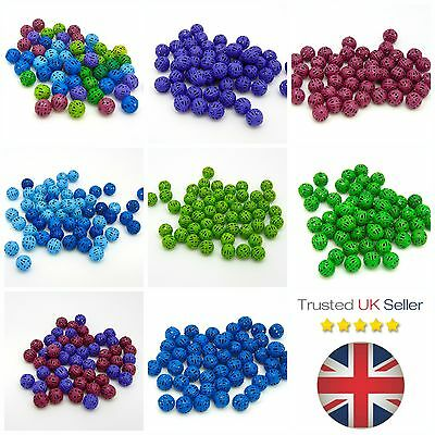 50 Pcs 8mm Colour Coated Filigree Spacer Beads Jewellery Craft Summer Bright ML