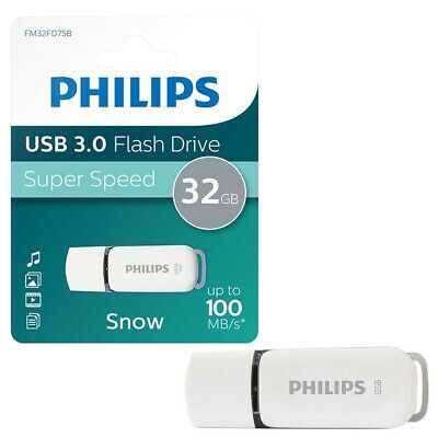 NEW 32GB Philips Snow Series USB 3.0 Flash Key Drive USB 3.0 Memory Stick 32GB