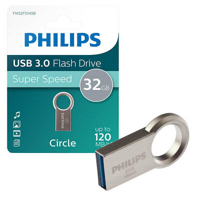 32GB Philips Circle Edition USB 3.0 Flash Key Drive USB Memory Stick 30MB/s 32GB