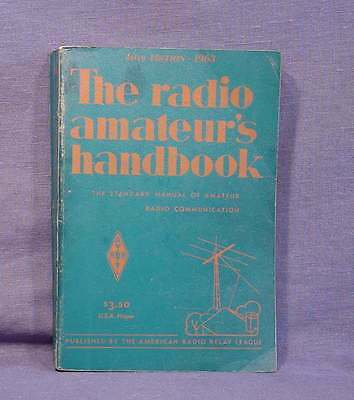 The ARRL 1963 Handbook for the Radio Amateur - These are GREAT Books to Collect!