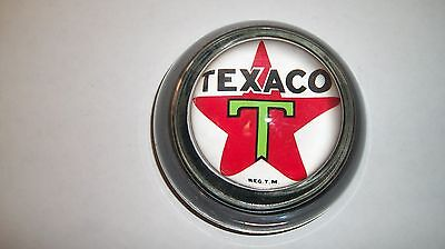 Texaco Red Star Logo Oil Gas Station Advertising Sign Glass Dome Paperweight