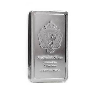 SPECIAL PRICE! 10 oz Scottsdale STACKER® Silver Bar .999 Silver #A182