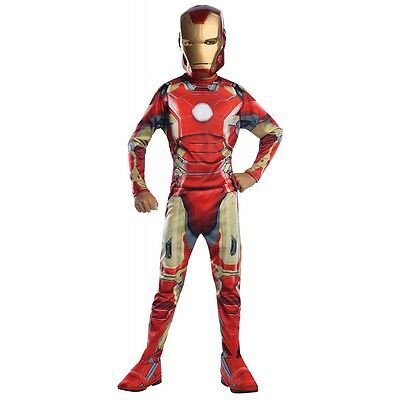 Iron Man Costume Kids Avengers Superhero Halloween Fancy Dress