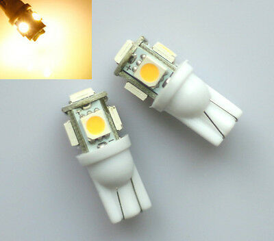 2x SMD LED T10 w5w Lampe 360° 12V warm weiß hell Innenraum Beleuchtung Licht