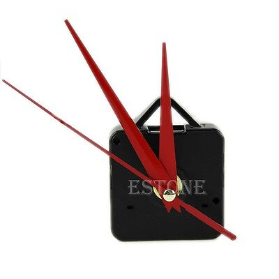 Quality Quartz Clock Movement Mechanism Parts DIY Tool with Red Hands Silence