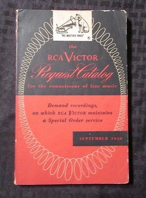 1950 RCA VICTOR Request Catalog VG/FN Phonograph Records