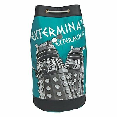 Doctor Dr Who And The Daleks Exterminate Retro Gym Duffel Bag New With Tags