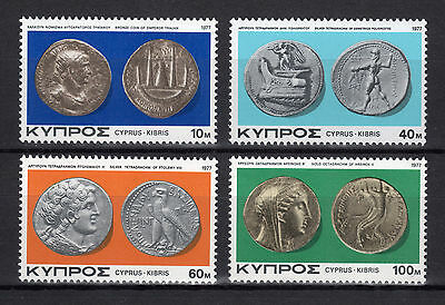 Cyprus 1977 Ancient Cypriot Coins Ii Mnh