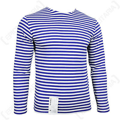 Genuine Russian Paratrooper Telnyashka - 100% Cotton Striped Army Long Sleeved