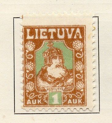 Lithuania 1921 Early Issue Fine Mint Hinged 1a. 134359