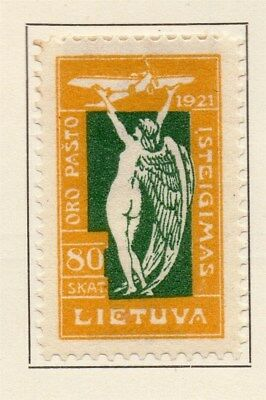 Lithuania 1921 Early Issue Fine Mint Hinged 80sk. 134364