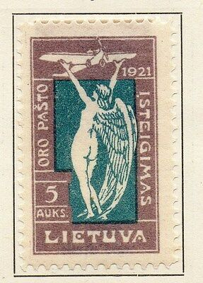 Lithuania 1921 Early Issue Fine Mint Hinged 5a. 134367