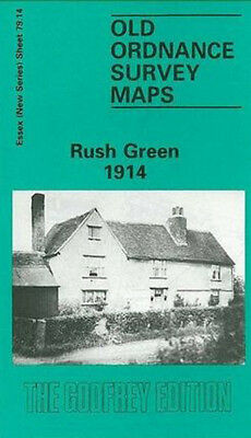 Old Ordnance Survey Map Rush Green 1914
