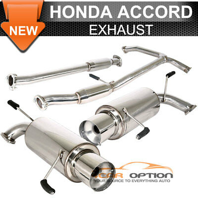Special Offer 98-02 Honda Accord V6 Stainless Catback Exhaust Muffler Dual Tip