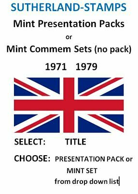 1971 - 1978 Commemorative Presentation Pack or MNH stamp set with no pack - NEW