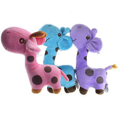 Giraffe Dear Soft Plush Toy Animal Dolls Baby Kid Birthday Party Gift  Tide