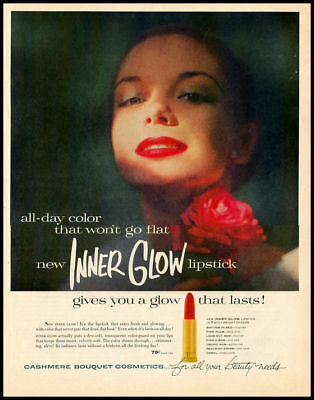 1957 vintage ad for Cashmere Bouquet InnerGlow Lipstick