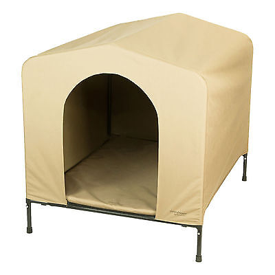 Weatherproof Dog Kennel Heininger Pet HoundHouse Portable Collapsible (4 Sizes)