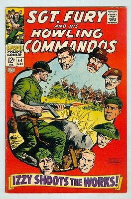 Sgt Fury and His Howling Commandos #54 May 1968 VG+