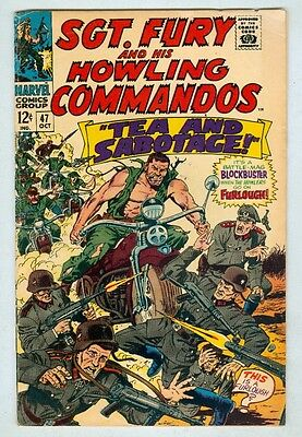 Sgt Fury and His Howling Commandos #47 October 1967 VG