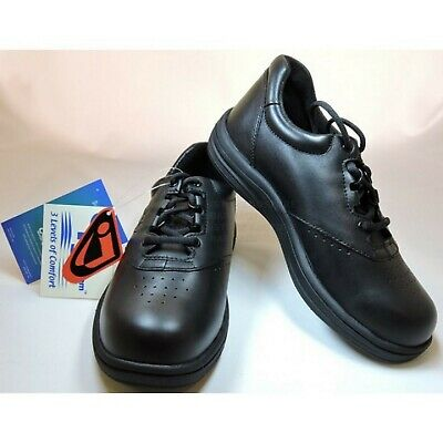Instride Sanibel II Lace Leather Black Womens Shoes Orthopedic Diabetic New