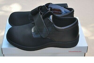 Instride Soft Slide Strap Leather Black Womens Shoes Orthopedic Diabetic New
