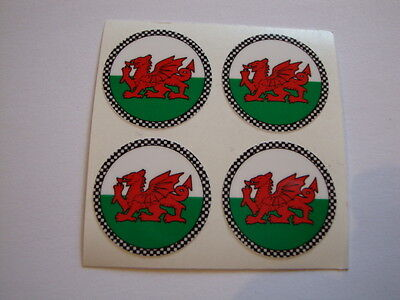 "12 Welsh Dragon Crown Green Bowls Stickers  1""  Lawn Bowls Indoor Bowls"