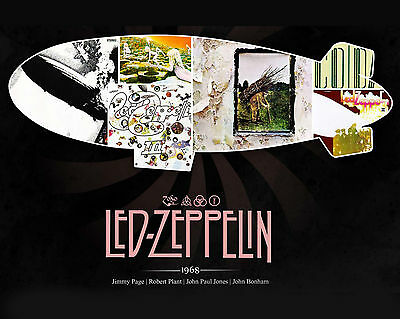 Led Zeppelin Promotional Poster - 8x10 Color Photo