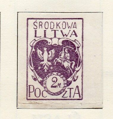 Central Lithuania 1920 Early Issue Fine Mint Hinged 2m. Imperf 134587
