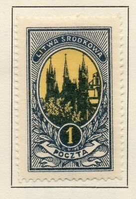 Central Lithuania 1921 Early Issue Fine Mint Hinged 1m. 134611