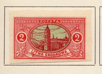Central Lithuania 1921 Early Issue Fine Mint Hinged 2m. Imperf 134614