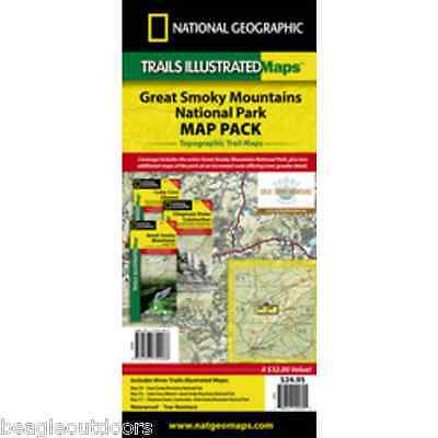 National Geographic Trails Illustrated TN/NC Great Smoky Map Bundle 1020586